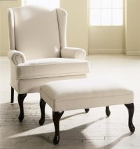 Accent Chair with Ottoman - Home Furniture Design