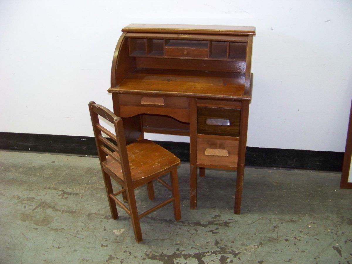 Antique Childs Roll Top Desk  Home Furniture Design