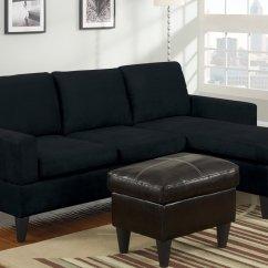 Black Microfiber Sofa Set Amazon Covers Sectional Home Furniture Design