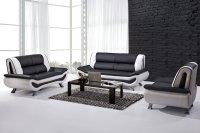 Black and White Leather Sofa Set - Home Furniture Design