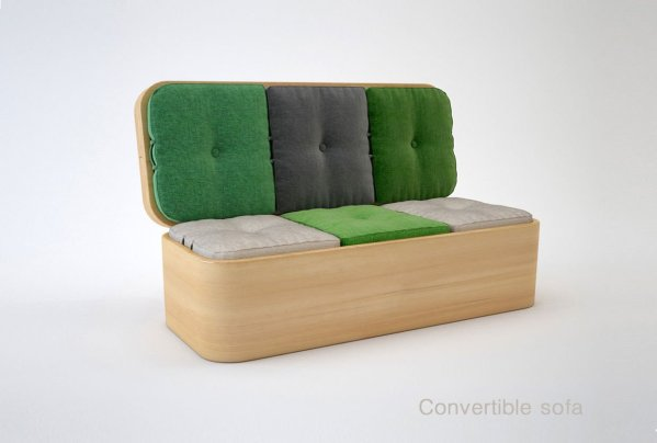 Convertible Sofa and Table for Small Spaces