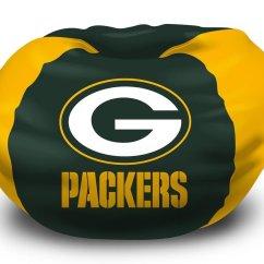 Green Bay Packers Chair Swivel Visitors Bean Bag Home Furniture Design