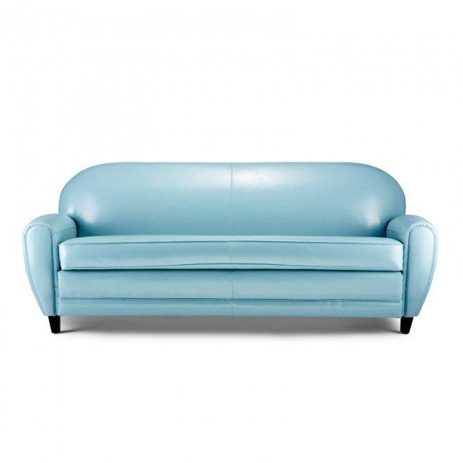 Light Blue Leather Sofa