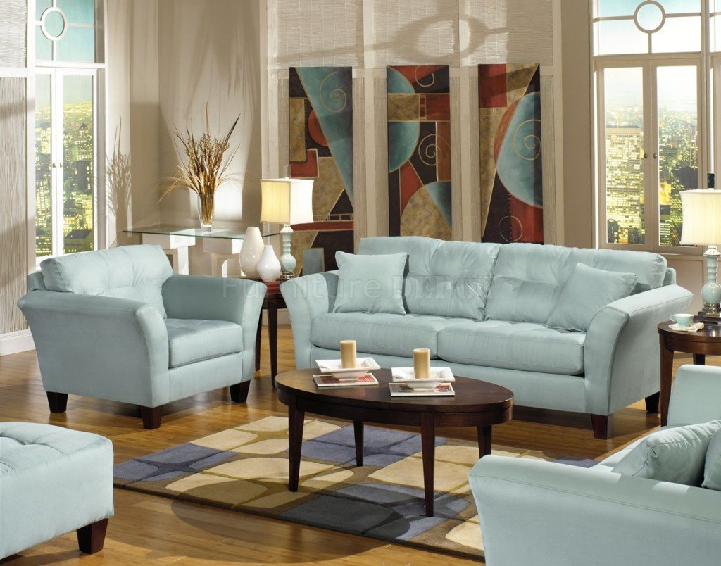 Light Blue Sofas