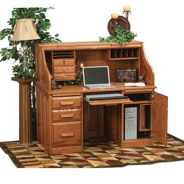 Roll Top Computer Desk - Home Furniture Design