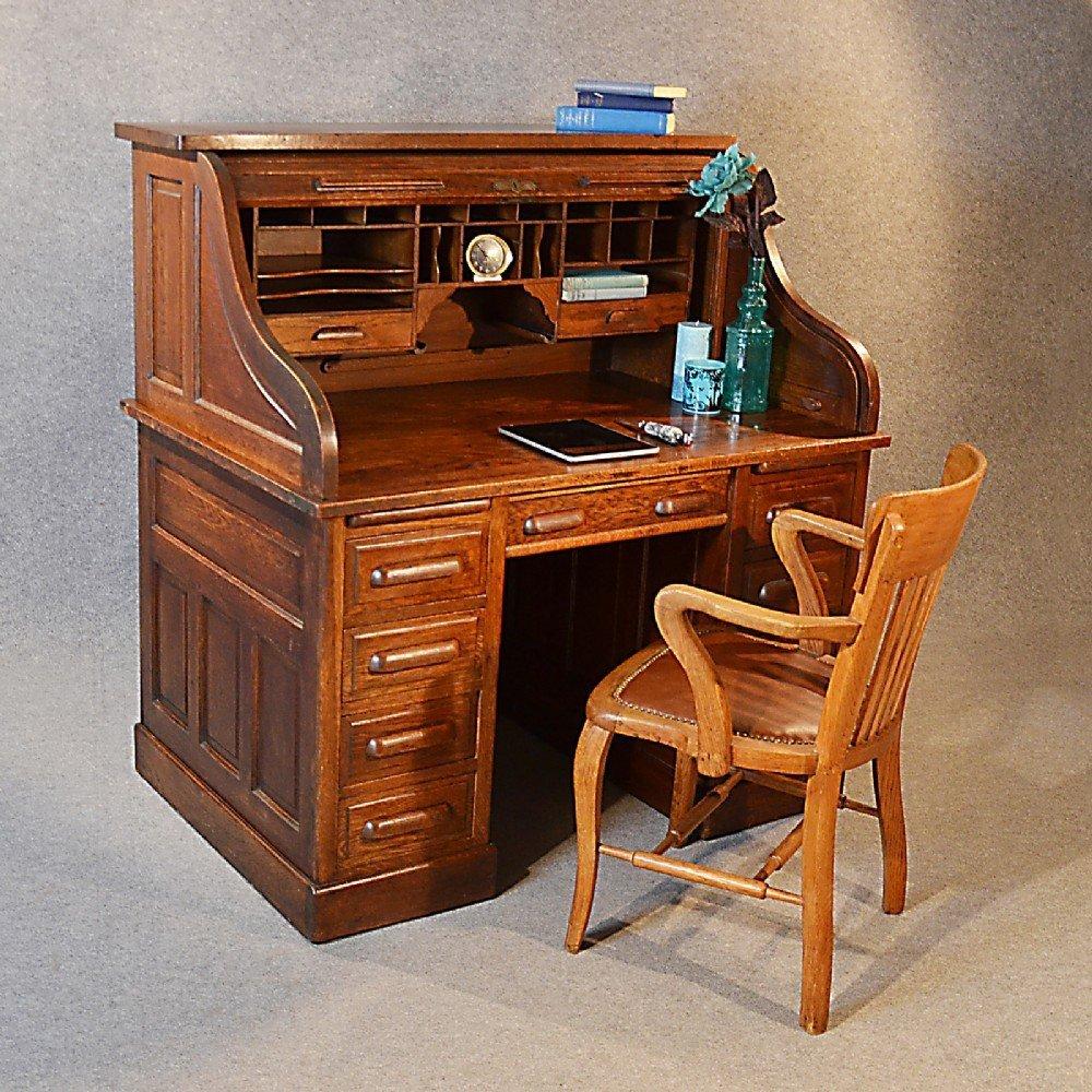Roll Top Writing Desk  Home Furniture Design