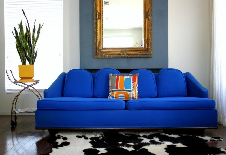 Royal Blue Sofa  Home Furniture Design