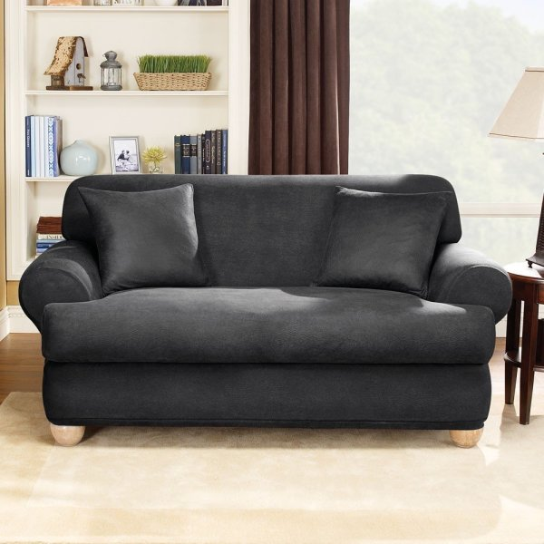 Two Sofa Slipcovers with Cushion Covers