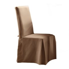 Chair Covers Cotton White With Gold Sash Sure Fit Duck Dining Slipcover Home