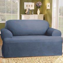 Sure Fit Cotton Duck Sofa Slipcover - Home Furniture Design