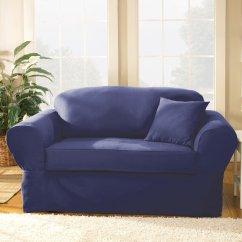 Sure Fit Black Sofa Slipcover Ethan Allen Sectional Twill Supreme Home Furniture Design