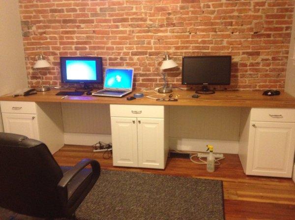 Two Person Desk Home Office - Furniture Design