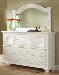 White Bedroom Dresser with Mirror - Home Furniture Design