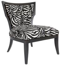 Zebra Print Accent Chair - Home Furniture Design