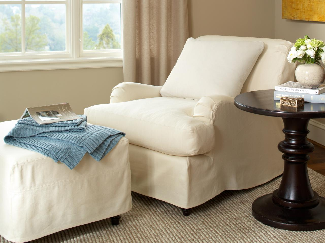 chair and ottoman slipcover set summer infant high slipcovers home furniture design