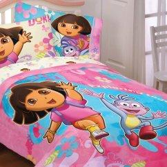 Dora The Explorer Flip Out Sofa Bed N Joy Toddler Bedding Set Home Furniture Design