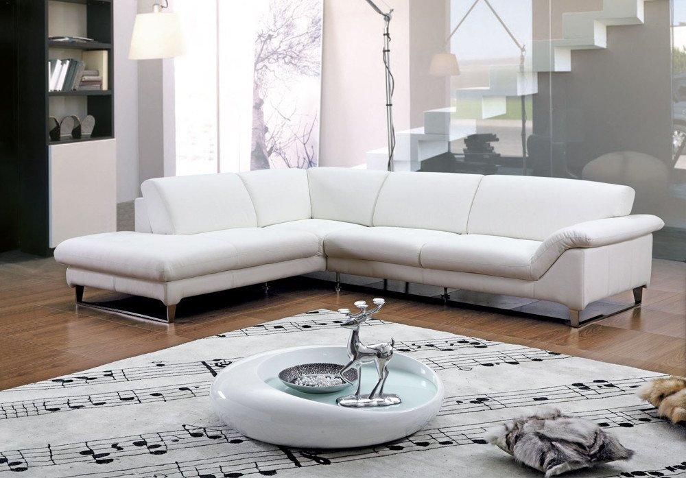 White Leather Corner Sofa  Home Furniture Design