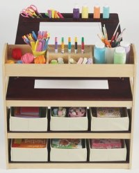 Kids Art Desk with Storage - Home Furniture Design