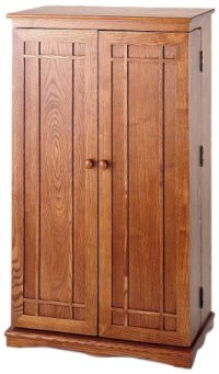 Oak Storage Cabinet with Doors