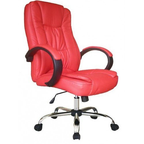 Red Leather Office Chair  Home Furniture Design