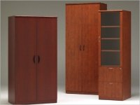 Tall Wood Storage Cabinet with Doors