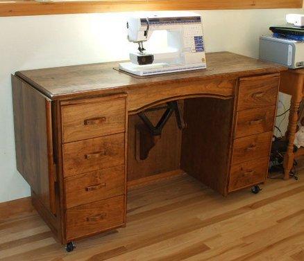 Used Sewing Machine Cabinet  Home Furniture Design