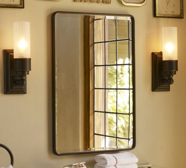 White Bathroom Medicine Cabinet with Mirror  Home