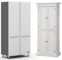 White Storage Cabinet with Doors
