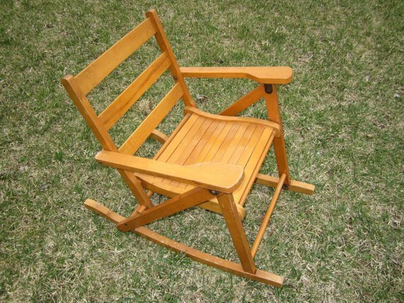 Wooden Folding Rocking Chair  Home Furniture Design
