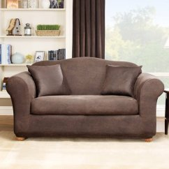 Sure Fit Stretch Stripe 2 Piece T Cushion Sofa Slipcover Queen Size Sleeper Sofas 4 - Home Furniture Design