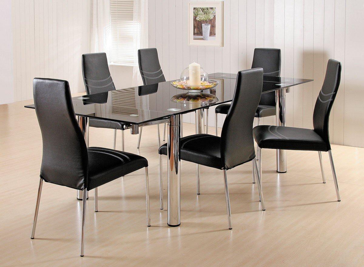 7 Piece Glass Dining Room Set  Home Furniture Design