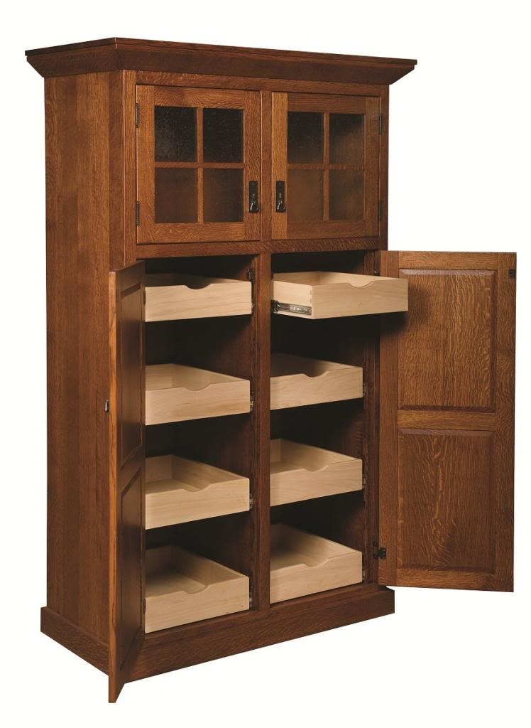 Oak Kitchen Pantry Storage Cabinet