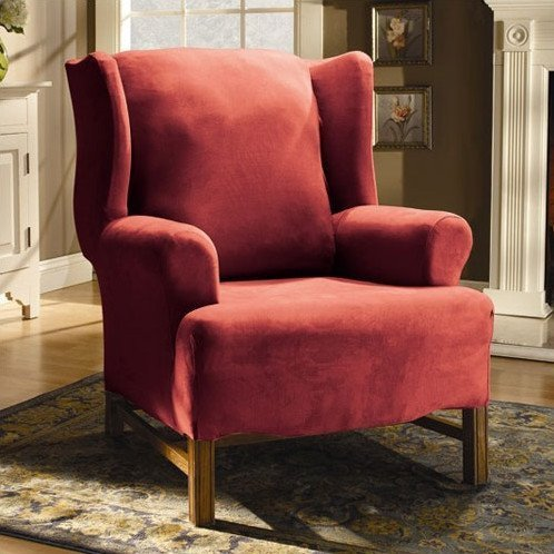 Slipcovers For Wing Chairs With T Cushion  Home Furniture