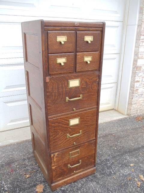 Vintage Metal Filing Cabinet  Home Furniture Design