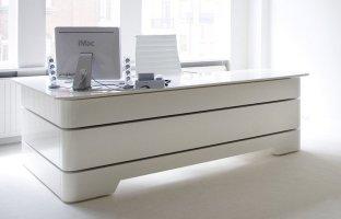 White Executive Desk   Home Furniture Design