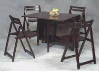 Wood Folding Table and Chairs Set - Home Furniture Design