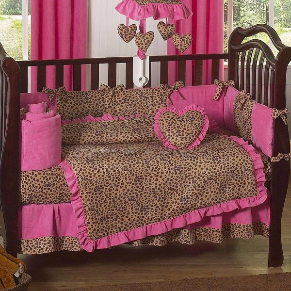 Cheetah Print Baby Bedding Set