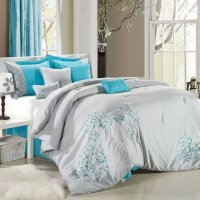 Gray And Blue Bedding Sets - Home Furniture Design