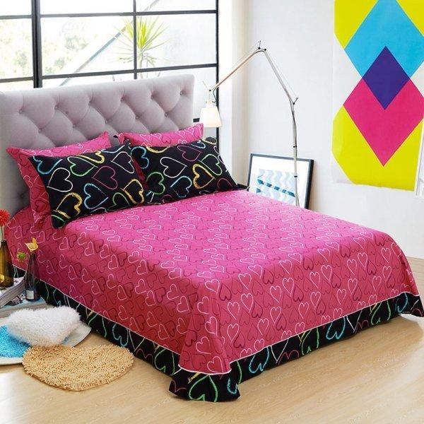 Hot Pink And Black Bedding Sets - Home Furniture Design