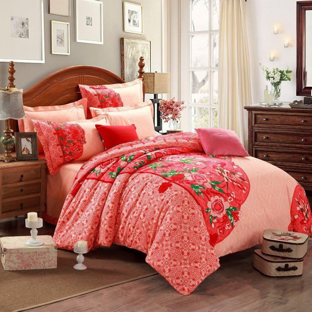 Red Bedding Sets Queen  Home Furniture Design