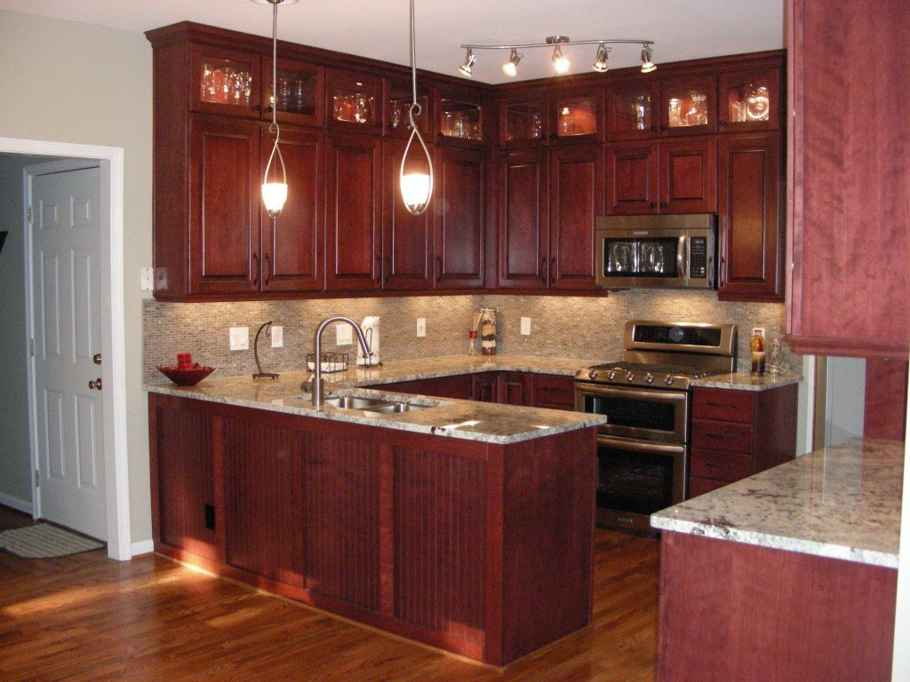 cherry kitchen cabinets french style furniture wood home design