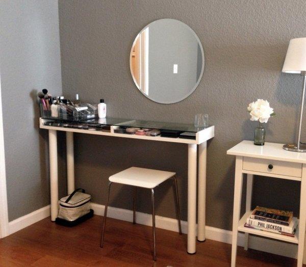 Corner Vanity Desk - Home Furniture Design