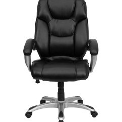 Black Leather Office Chair High Back Luxury Table And Chairs Executive Home