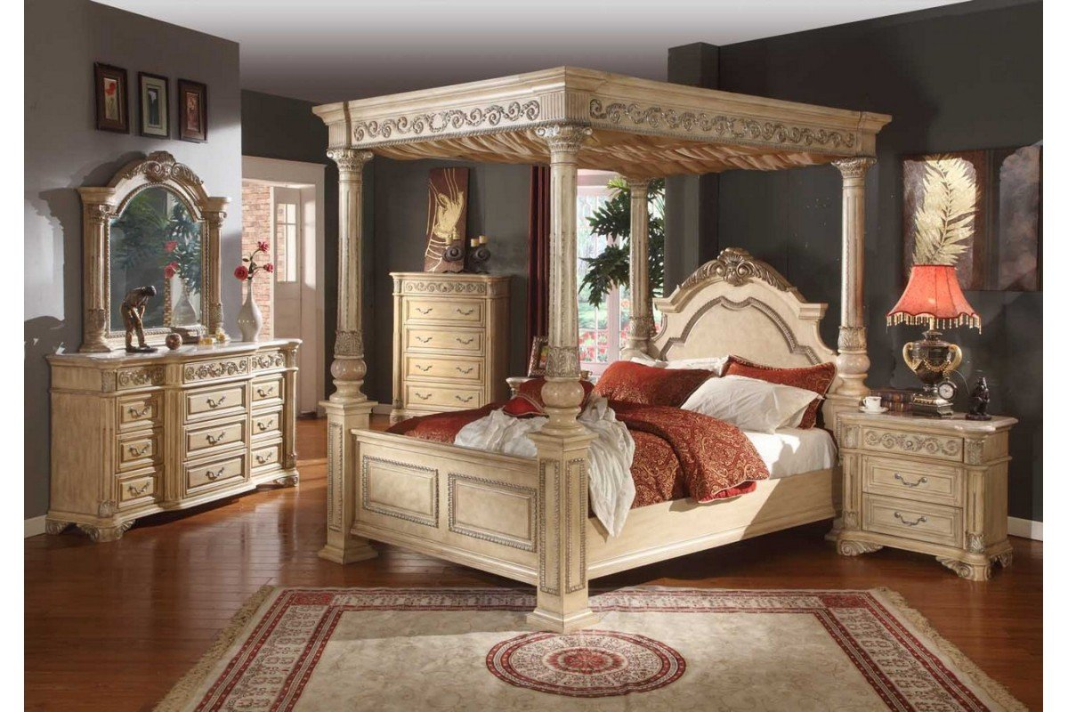 King Size Wall Unit Bedroom Set