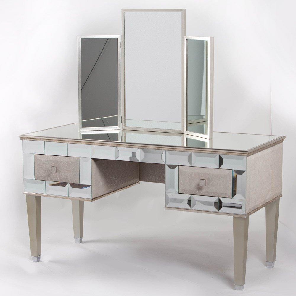 Mirrored Vanity Desk  Home Furniture Design