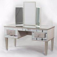 Mirrored Vanity Desk - Home Furniture Design