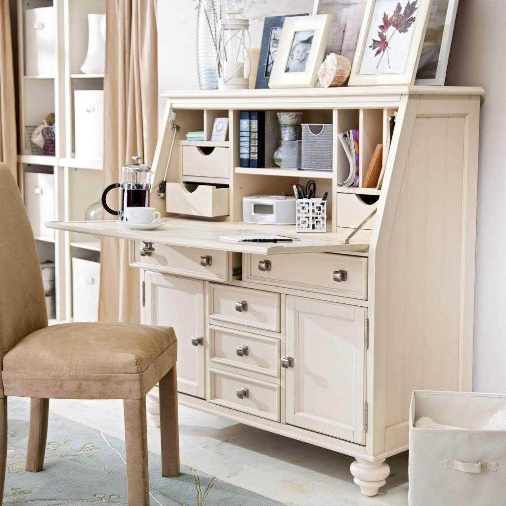 White Secretary Desk Furniture