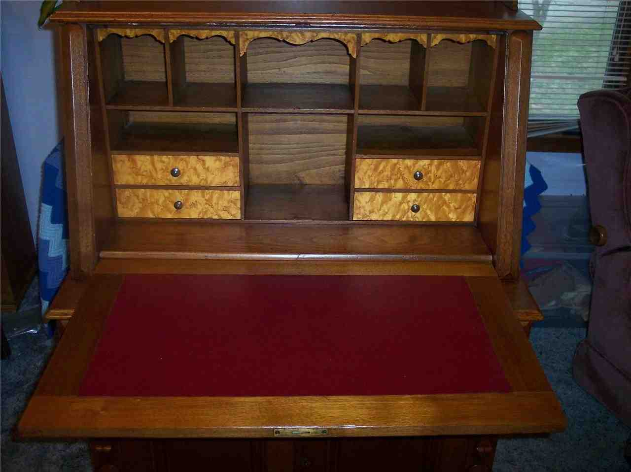 Antique Drop Front Secretary Desk  Home Furniture Design