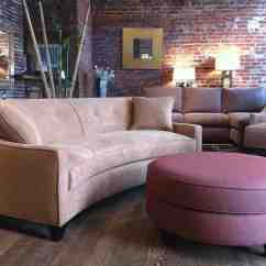 Conversational Sofa Cover Grey Mustard Cushions Curved Conversation Home Furniture Design