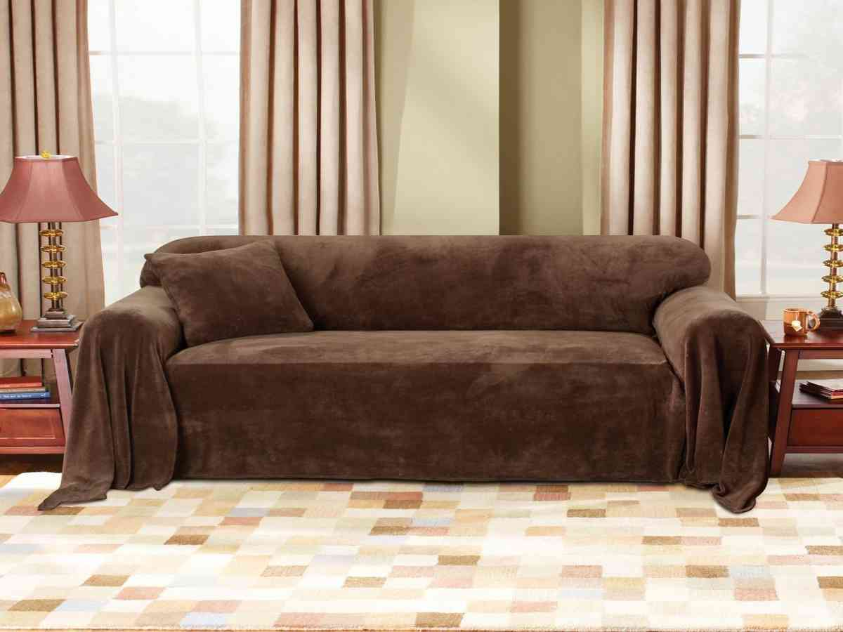 throw covers sofa microsuede reclining and loveseat sure fit plush cover home furniture design